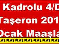 Kadrolu 4/D Taşeron 2019 Ocak Maaşları Enflasyon Farklı