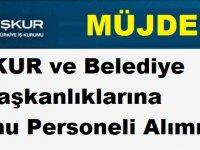 İŞKUR ve Belediye Başkanlıklarına Kamu Personeli Alımı