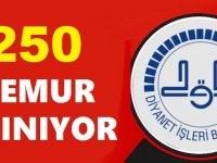 Diyanet 250 Kamu Personeli Alım İlanı