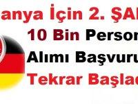Almanya için 2. Şans! Almanya 10 Bin Personel Alımı Başvuruları Tekrar Başladı!