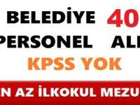 İl Özel İdaresi ve Belediye 400 Kamu Personeli Alımı