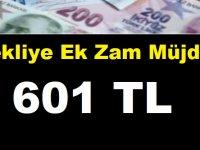 Emekliye Ek Zam Müjdesi: Emekliye 601 TL