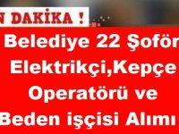 Kütahta Altıntaş Belediyesi 22 Şoför, Elektrikçi,Kepçe Operatörü ve Beden işçisi Alımı