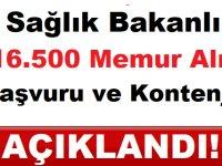 Sağlık Bakanlığı 16.500 Memur Alımı Başvuru Şartları ve Kontenjan