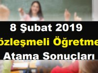 2019 8 Şubat Sözleşmeli Öğretmen Atama Sonuçları Açıklandı