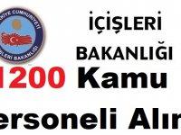 İçişleri Bakanlığı 1200 Personel Alımı Başvuru