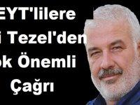 EYT'lilere Ali Tezel'den Çok Önemli Çağrı Geldi