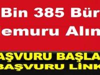 2 Bin 385 Büro Memuru Alımı Başvuru Ekranı Açıldı