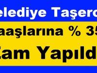 Son Haber: Belediye Taşeron Maaşlarına % 35 Zam Yapıldı