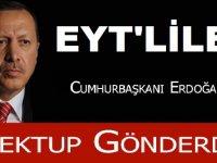 EYT'liler İmzaları Cumhurbaşkanı Erdoğana Teslim Etti.