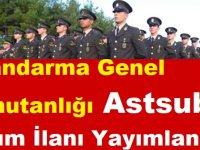 Jandarma Genel Komutanlığı 2019 Astsubay Alım İlanı