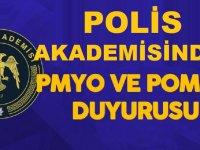 Polis Akademisi Başkanlığı PMYO ve POMEM Son Dakika Duyuru