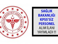 Sağlık Bakanlığı KPSS'siz Kamu Personeli Alım İlanı
