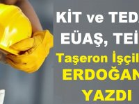 KİT ve TEDAŞ, EÜAŞ, TEİAŞ Taşeron İşçiler Erdoğana Yazdı