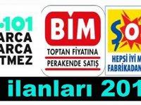 Şok ve A101 Türkiye Geneli Personeller ve Engelli Personel Alıyor