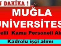 Muğla Üniversitesi En Az Ortaokul Mezunu Engelli Temizlik İşçisi Alımı