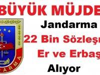 Jandarma Genel Komutanlığı 22 Bin Sözleşmeli Er ve Erbaş Alım İlanı