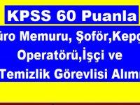 Erzurum Belediyesi Kpss 60 Puanla 20 ,Büro Memuru, Şoför,Kepçe Operatörü,İşçi ve Temizlik Görevlisi Alımı