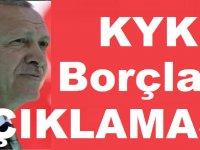 Erdoğan KYK Borçları İçin Açıklama Yaptı