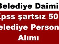 Zonguldak Kilimli Belediyesi Daimi Kpss şartsız 50 Belediye Personel Alımı 2019