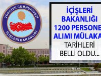 İçişleri Bakanlığı 1200 Personel Alımı Sonuç Sorgulama