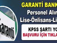 Garanti Bankası personel alımı