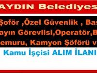 Aydın Efeler Belediyesi Kpss Şartsız Daimi,12 Kamu Personel Alımı