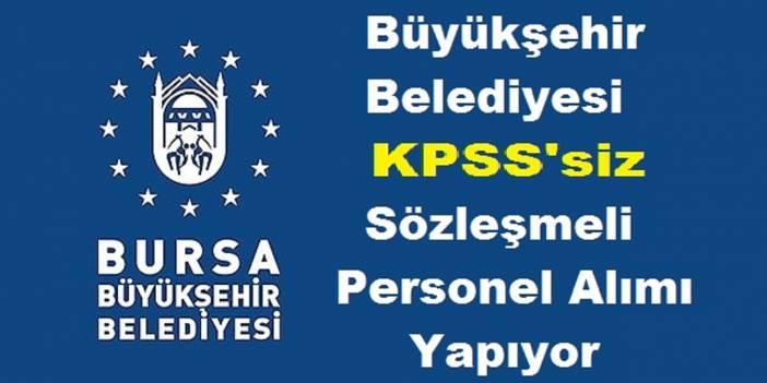 Bursa Belediyesi Daimi Kpss Şartsız 5 Büro Memuru Kamu Personeli Alım ilanı