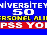 Ardahan Üniversitesi En Az İlkokul Mezunu 49 Şoför,Güvenlik,Temizlik Görevlisi ,Kamu İşçisi Alımı