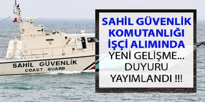 Sahil Güvenlik Komutanlığı 2019 Engelli İşçi Alımı Sonuçları