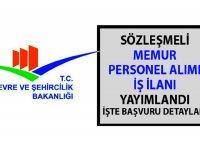 Çevre ve Şehircilik Bakanlığı memur alımı