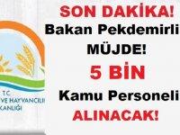 Bakan Pekdemirli'den Müjde! 5 BİN Devlet Memuru Alınacak!