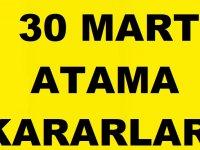 30 Mart 2019 Atama Kararları