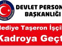 Belediye Taşeron İşçileri Kadroya Geçti