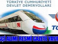 TCDD Devlet Demiryolları 356 Kamu Personel Alımı Resmi Gazetede Yayınlandı