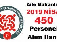 Aile Bakanlığı 450 Kamu Personel Alımı