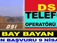 Devlet Su İşleri Genel Müdürlüğü Telefon Operatörü Kamu Personel Alımı