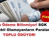 Bu Ödeme Bilinmiyor! SGK Emekli Olamayanların Paralarını Toplu Ödüyor!