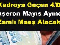 Kadroya Geçen 4/D Taşeron Mayıs Ayında Zamlı Maaş Alacak