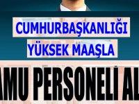 Cumhurbaşkanlığı 14 Bin TL Maaşla 7 Kamu Personeli Alımı
