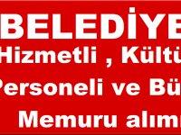 Kayseri Talas Belediyesi , Hizmetli , Kültür Personeli ve Büro Memuru Personel alımı