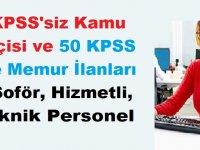 50 KPSS İle ve KPSS'siz Nisan ayı Memur Kamu işçisi ve Personel iş İlanları