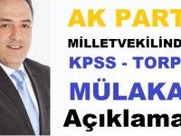 AK Parti İstanbul Mliletvekilin'den KPSS Torpil ve Mülakat Açıklaması