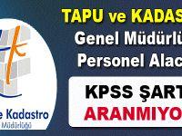 Tapu ve Kadastro Genel Müdürlüğü personel alıyor