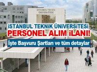 İstanbul Teknik Üniversitesi Yüksek Maaşla Sözleşmeli Bilişim Personeli Alıyor