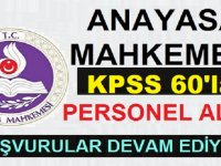 Anayasa Mahkemesi İşçi Alım İlanı KPSS 60 Puanla