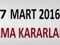 17 Mart 2016 Tarihli Atama Kararları