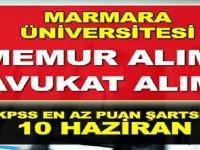 Marmara Üniversitesi Avukat ve Memur Alımı yapıyor