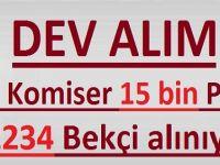 DEV ALIM 900 KOMİSER 15 BİN POLİS 2234 BEKÇİ ALINIYOR