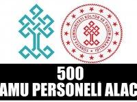 Kültür ve Turizm Bakanlığı ve Milli Eğitim Bakanlığı 500 kamu personeli alımı yapacak